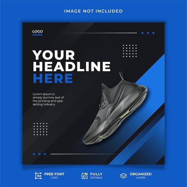 Wyprzedaż butów szablon postu w mediach społecznościowych