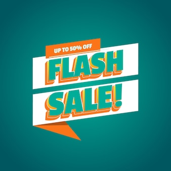 Wyprzedaż flash nowoczesny szablon promocji banerów z edytowalnym efektem tekstowym