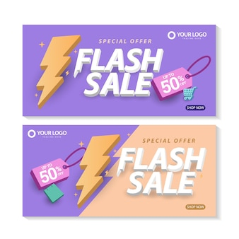 Wyprzedaż flash szablon baner plakat promocyjny oferta specjalna do 50 zniżki