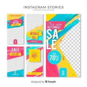 Wyprzedaż kolekcji szablonów historii instagramów