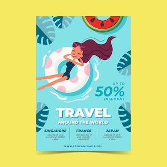 Wyprzedaż podróży - ilustrowana ulotka
