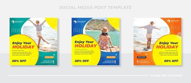 Wyprzedaż podróży instagram kolekcja post