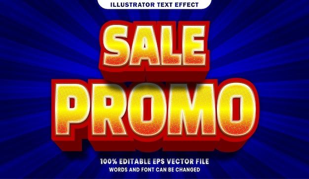 Wyprzedaż promo 3d efekt edytowalnego stylu tekstu