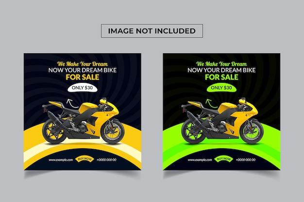 Wyprzedaż rowerów projekt plakatu w mediach społecznościowych