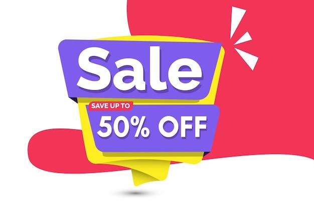 Wyprzedaż szablon banera plakat promocyjny oferta specjalna do 50 zniżki