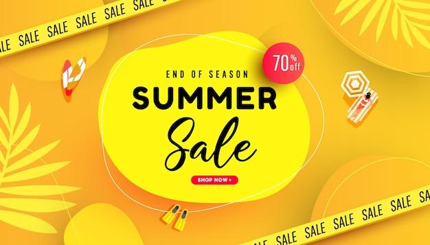 Wyprzedaż szablon projektu banera oferta specjalna baner promocyjny na reklamę promocyjną oferty sezonowej