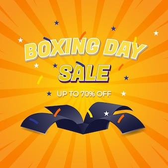 Wyprzedaż w boxing day z edytowalnymi efektami tekstowymi i niespodzianką z okazji boxing day sale