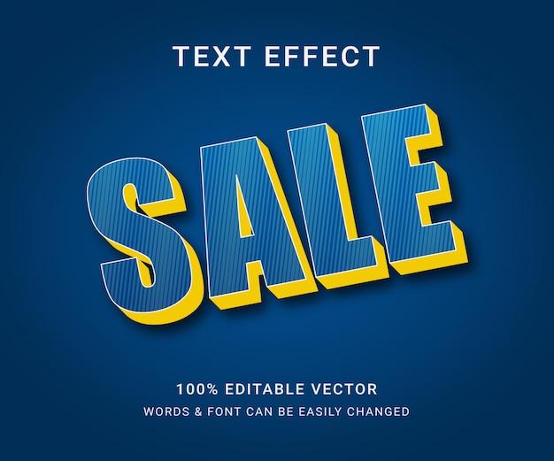 Wyprzedaż w pełni edytowalny efekt tekstowy