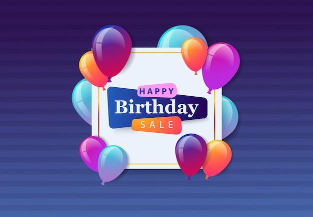 Wyprzedaż z okazji urodzin.