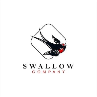 Wyrafinowany projekt logo jaskółki mały ptak zwierzę