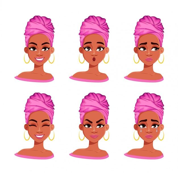 Wyraz twarzy african american woman