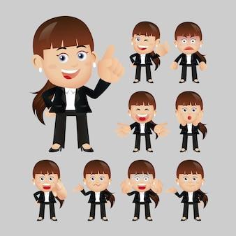 Wyrażenia ludzi biznesu z różnymi twarzami