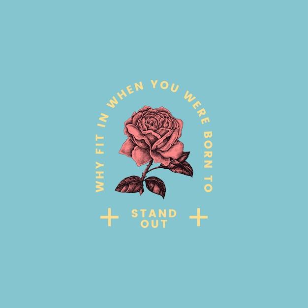 Wyróżnij się projekt wektor logo rose