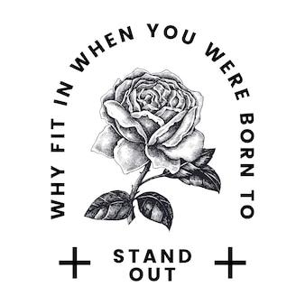 Wyróżnij się wektor logo rose
