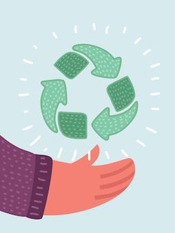 Wyrzuć ikonę kosza ikona recyklingu