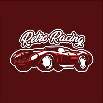 Wyścigi klasyczny samochód logo ilustracja