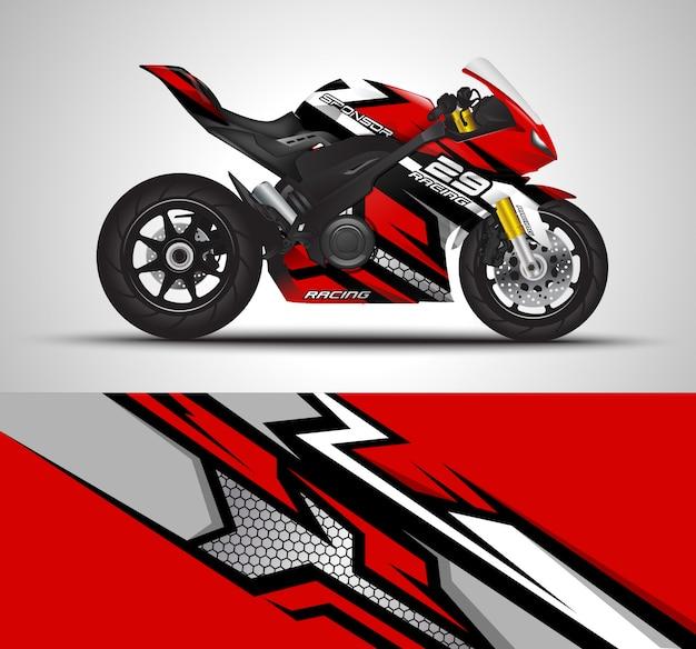 Wyścigi motocyklowe owinąć kalkomania ilustracja