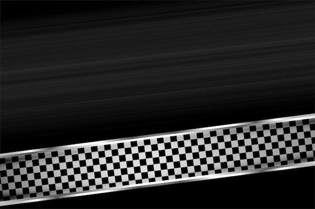Wyścigi sportowe w stylu flagi z szachownicą tło