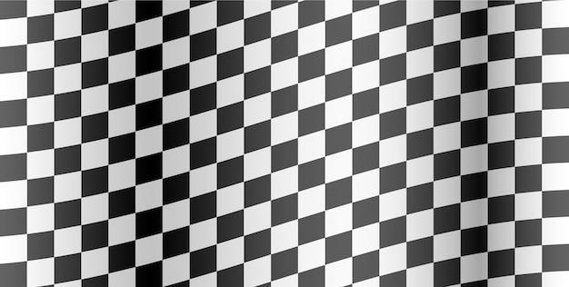 Wyścigi w tle. flaga w szachownicę. ilustracja.