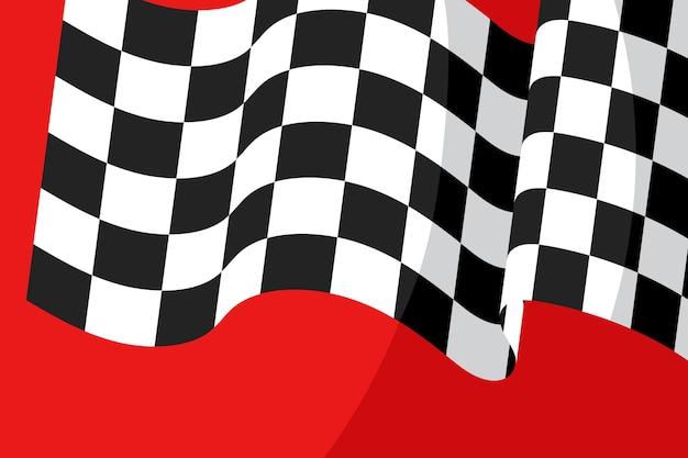 Wyścigi w tle flagi z szachownicą