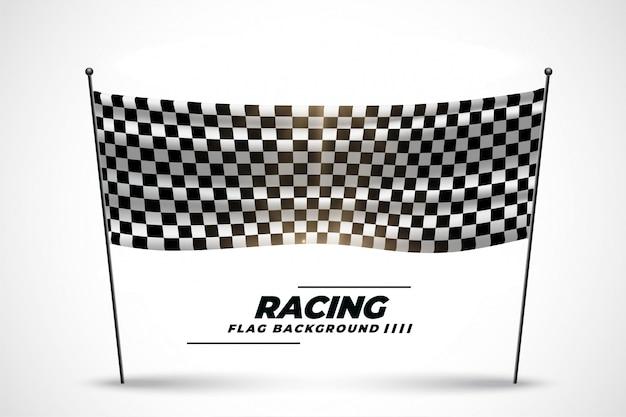Wyścigowy sztandar flagi na rozpoczęcie lub zakończenie wyścigu