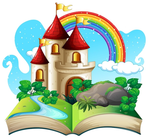 Wyskakująca książka 3d z motywem zamku z bajki