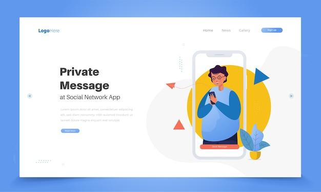 Wyślij koncepcję wiadomości prywatnych