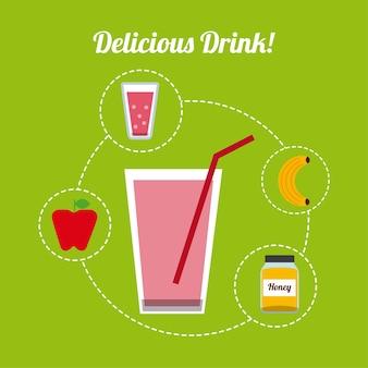 Wyśmienity napój projekt, wektorowa ilustraci eps10 grafika