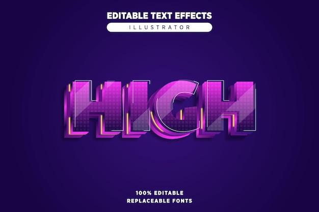 Wysoki edytowalny efekt tekstowy