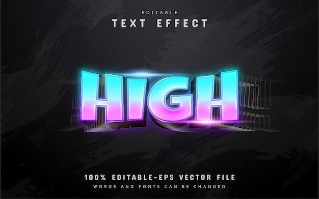 Wysoki tekst, efekt tekstowy w stylu gradientu 3d