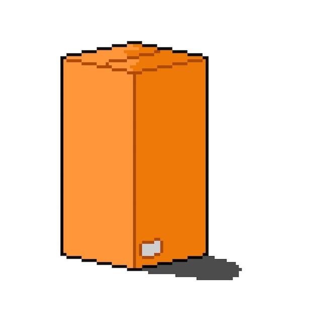 Wysokie pudełko dostawcze w stylu pixel art