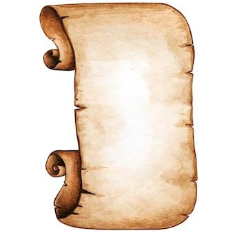 Wysokiej jakości akwarela vintage scroll