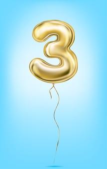 Wysokiej jakości grafika wektorowa złotych numerów balonu