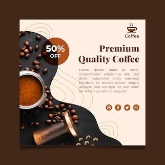 Wysokiej jakości kwadratowe ulotki do kawy