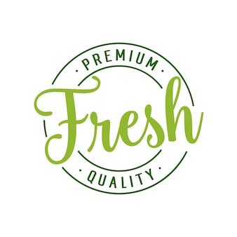 Wysokiej jakości napis o świeżej jakości