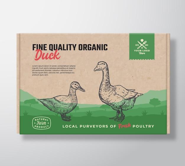 Wysokiej jakości organiczna kaczka.