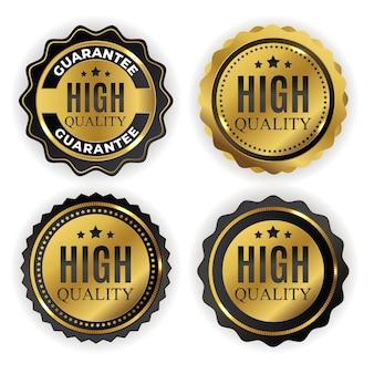 Wysokiej jakości złoty znak etykiety