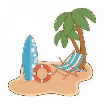 Wyspa lato i plaża