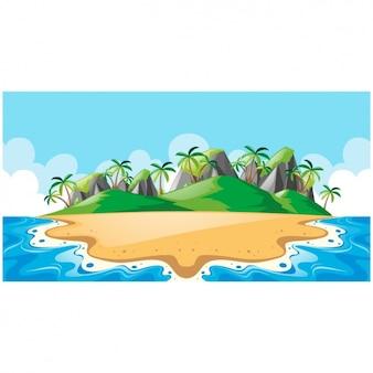 Wyspa wzór tła