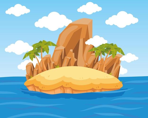 Wyspa z palmami