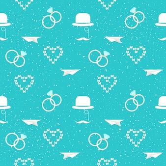 Wystrój ślubny. ślubne bezszwowe tło wzór dla karty ślubnej, zaproszenia, tapety, albumu, albumu, papieru do pakowania wakacji, tkaniny tekstylnej, odzieży, koszulki itp