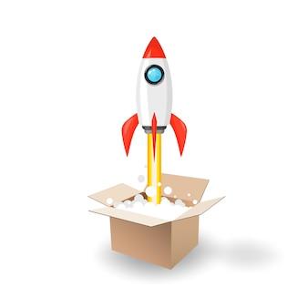 Wystrzelenie rakiety kosmicznej z pola otwierającego.