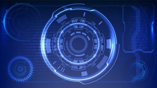 Wyświetlacz dashboard hmi sci-fi