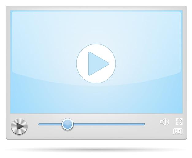 Wyświetlacz fajnego odtwarzacza wideo