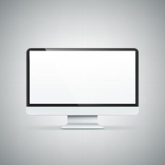 Wyświetlacz komputera. ilustracja na białym tle.