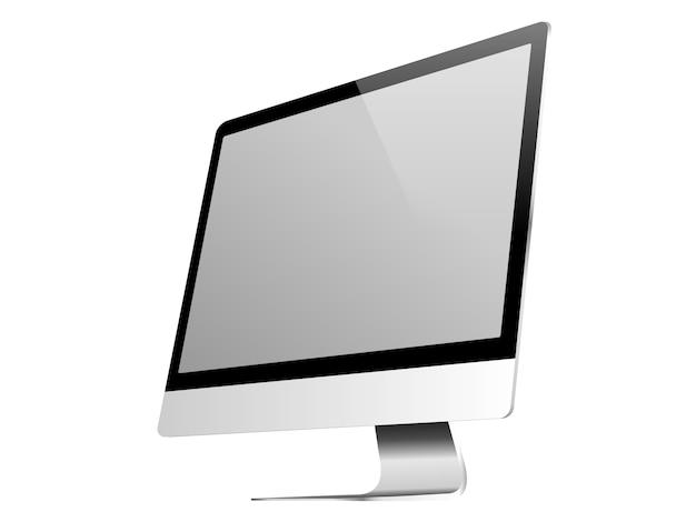 Wyświetlacz komputera na białym tle