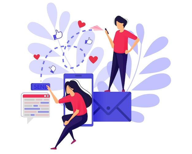 Wysyłaj polubienia, miłości i wiadomości e-mailem.