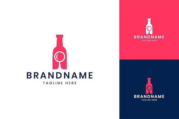 Wyszukaj projekt logo negatywnej przestrzeni butelki