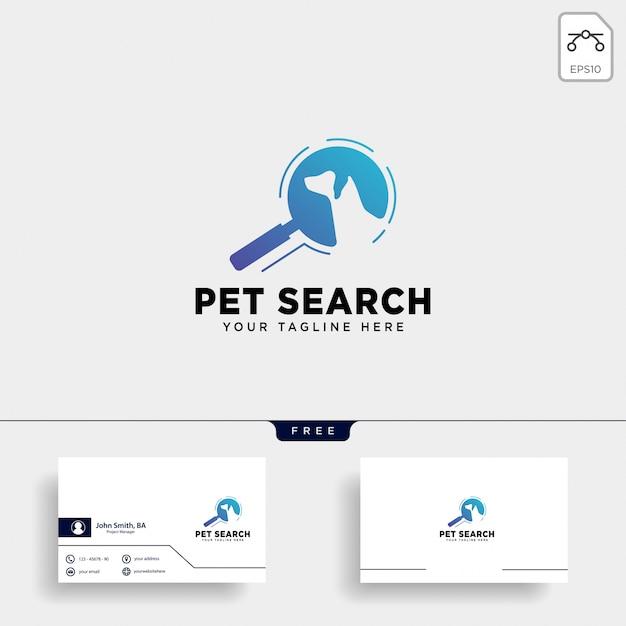 Wyszukaj szablon logo zwierząt domowych ze stylem linii sztuki