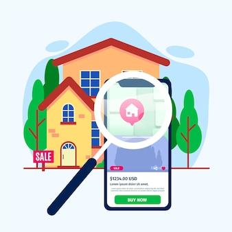 Wyszukiwanie nieruchomości za pomocą smartfona